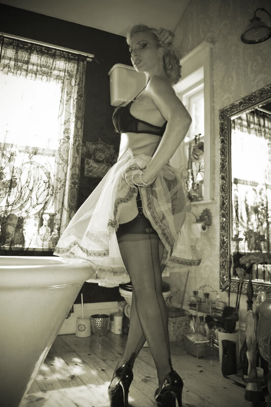 Huddersfield Mistress in FFSH nylon Stockings BW